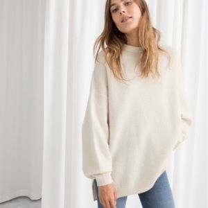 & Other Stories oversized wool blend sweater